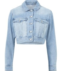jeansjacka viblanca rosabell cropped denim jacket
