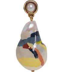 baroque pearl drop earring