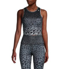 max studio women's animal-print sports bra - jet snake - size l