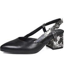 zapato mujer negro filiz eda manzini