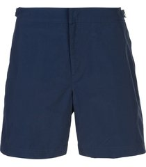 orlebar brown mid length swim shorts - blue