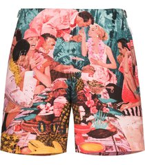orlebar brown bulldog sunshine diners printed swim shorts -