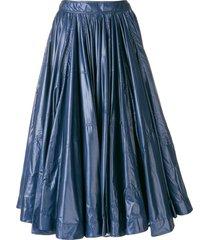 calvin klein 205w39nyc full gathered skirt - blue
