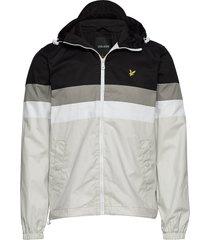 contrast panel yoke jacket dun jack grijs lyle & scott