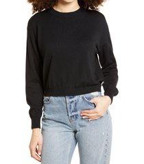 women's bp. easy drop shoulder sweater, size x-small - black