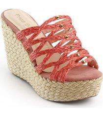 calzado plataforma yute para dama 192994salmon