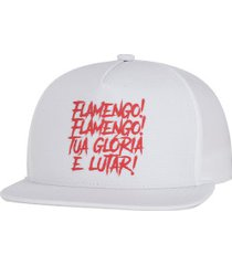boné aba reta do flamengo 2020 adidas - snapback - adulto - branco