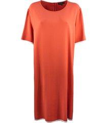 antonelli dress in soft orange-tone fabric