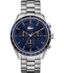 lacoste men's chronograph stainless steel bracelet watch 42mm