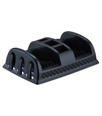 escorredor de pratos de plástico compacto rattan cor preto