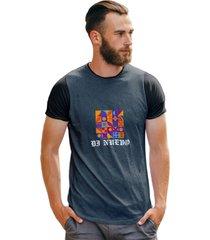 camiseta art abstrata masculina ilustração color
