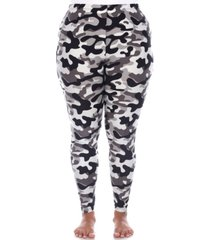 plus size super soft high-rise camo printed leggings
