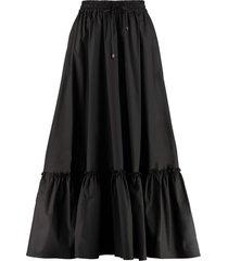 pinko appule poplin maxi skirt