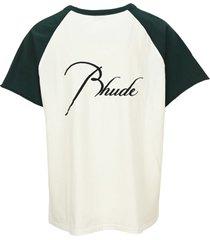 rhude logo t-shirt