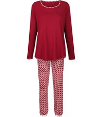 pyjama simone bordeaux/ecru