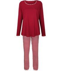 pyjama simone bordeaux::ecru