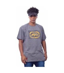 camiseta plus size ecko estampada cinza