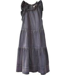 talita dress in charcoal
