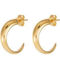 'claw' 18k gold vermeil medium hoop earrings