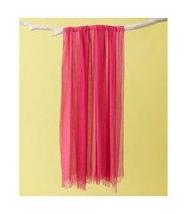 lenço em modal - lenço delhi cor: rosa - tamanho: único