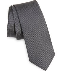 men's nordstrom joule silk skinny tie, size regular - grey