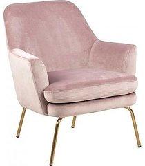 fotel tapicerowany na złotych nogach kobi róż