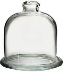 mini queijeira pasabahce com tampa basic em vidro 11x10cm transparente