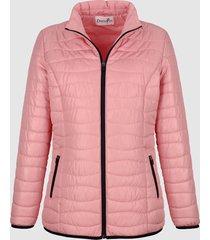 gewatteerde jas dress in roze