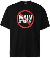no mainstream logo t-shirt, black