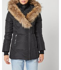mackage women's adali classic down coat - black - s