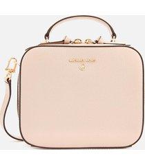 michael michael kors women's jet set charm medium cross body bag - soft pink
