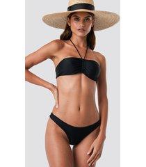 na-kd swimwear basic bikini panty - black