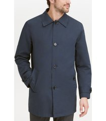 cole haan men's button-front water resistant rain coat