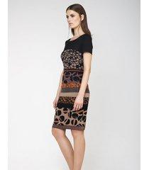 sukienka z krótkim rękawem we wzory