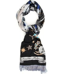 alexander mcqueen oversized night fairy scarf