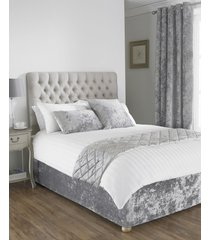 """deep pile crushed velvet silver king size bed wrap scarf 150x200cm (5'x6'6"""")"""