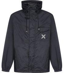 kenzo logo nylon hooded parka