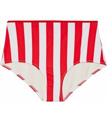 solid & striped bikini bottoms