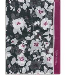 calvin klein graphic floral-print chiffon scarf