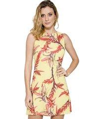 vestido print floral bromélias alphorria