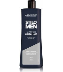 alfaparf stilo men shampoo grisalhos 250ml