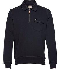 maurille half zip sweatshirt sweat-shirt trui blauw morris