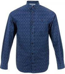 norse projects anton dot pod dark indigo shirt n40-0195
