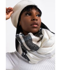 akira winter things plaid infinity scarf