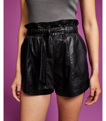 and now this women's faux-leather paperbag shorts