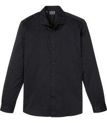 camicia elasticizzata semilucida slim fit (nero) - rainbow