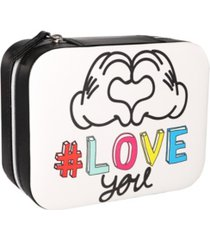 mickey mouse white square jewelry case