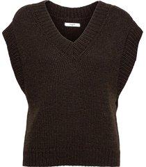 vea waistcoat vests knitted vests brun lovechild 1979