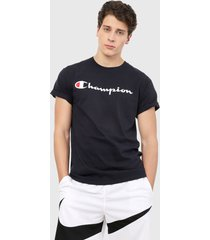 camiseta azul-blanco champion classic graphic tee