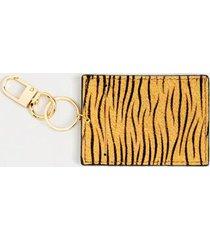 chelsea animal print card case - tiger
